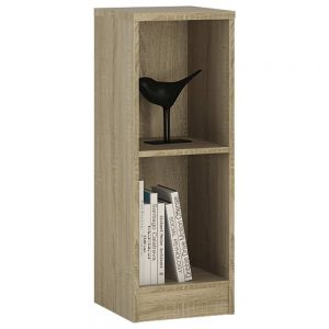 4You Low Narrow Bookcase Natural Pine