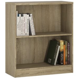 4You Low Wide Bookcase Natural Pine