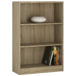 4You Medium Wide Bookcase Natural Pine
