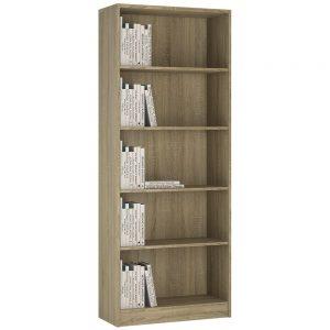 4You Tall Narrow Bookcase Sonama Oak