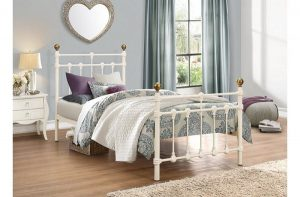 Atlas Single Bed in Cream