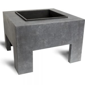 Ivyline Firefly Square Cement Firebowl