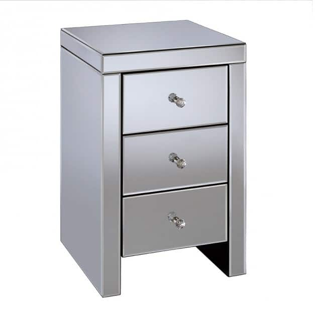 Seville 3 Drawer Bedside Table