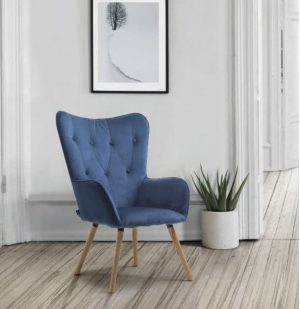 Willow Chair in Midnight Blue